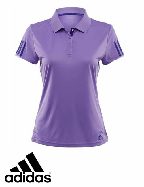 42ad3a5d Women's Adidas T-Shirt - 3S Response Galaxy Polo Tee - Purple ...