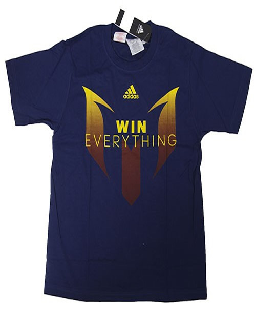 newest 73278 13c31 Boy's Adidas T-Shirt - Messi - Win Everything - Blue Tee