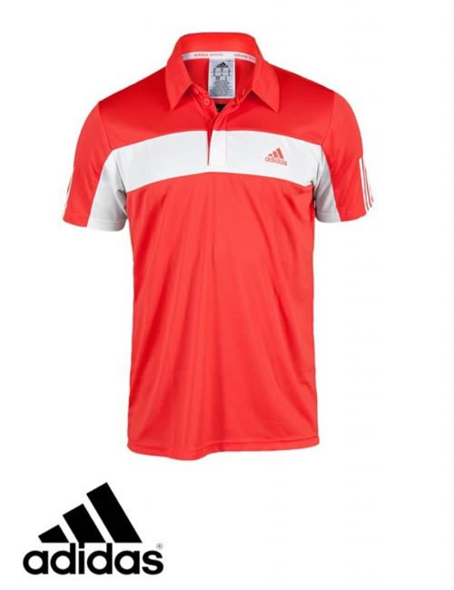 red adidas polo shirt