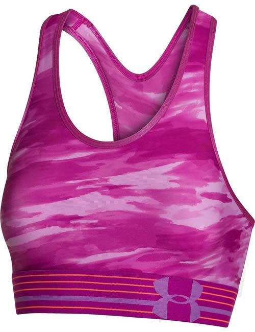 e9923b07f8 Women s Under Armour Sports Bra - Mid Impact - Pink Camo Top ...