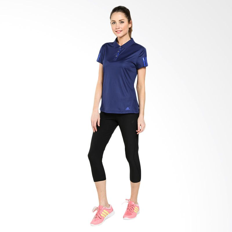 a1a33100 Women's Adidas T-Shirt - 3S Response Galaxy Polo Tee - Blue ...