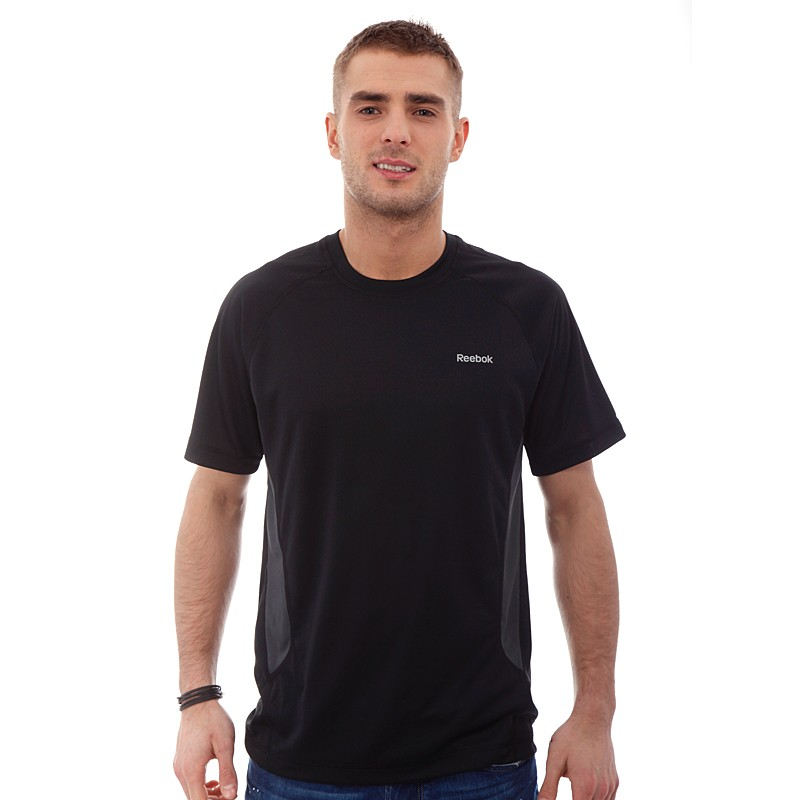 42d29da6 Men's Reebok T-Shirt - Fury Tech Tee - Black | ACTIVEWEAR ...
