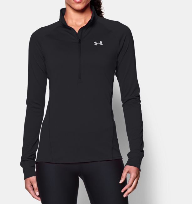 bf3c7f3a0 Women's Under Armour Sweatshirt - 1/2 Zip Tech LS Top - Black | ACTIVEWEAR  & SPORTSWEAR CLOTHING