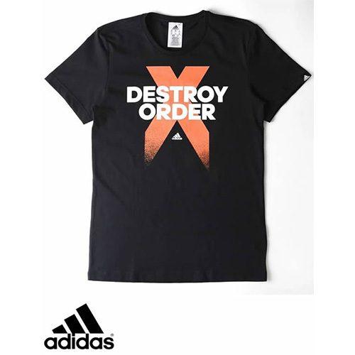best sneakers limited guantity best price Men's Adidas T-Shirt - Destroy Order Tee - Black