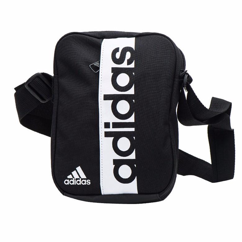 Adidas Shoulder Bag - Linear Performance Bag - Black  bebc55d6d450b