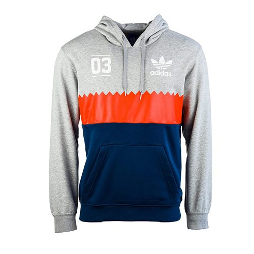 Men's Adidas Originals Hoody Serrated Hooded Top Grey