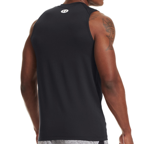 462233ae7 Men's Under Armour Compression Vest - UA HeatGear Sonic Fitted Tank - Black
