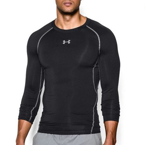 ae30d3123 Men's Under Armour T-Shirt - UA HeatGear LS Compression Top - Black ...