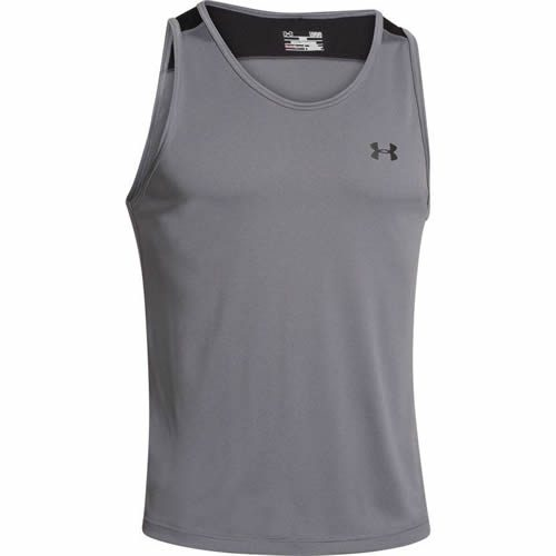 d6f439aaaa0a57 Men s Under Armour Vest - UA Tech Tank Top - Grey
