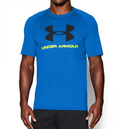 272b2e57d06 Men s Under Armour T-Shirt - UA Logo SS Tee - Blue