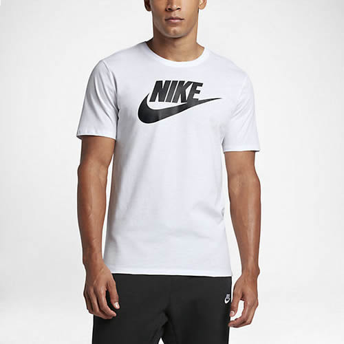 Taxi Miguel Ángel perro  Men's Nike T-Shirt - Nike Futura Tee - White   ACTIVEWEAR & SPORTSWEAR  CLOTHING