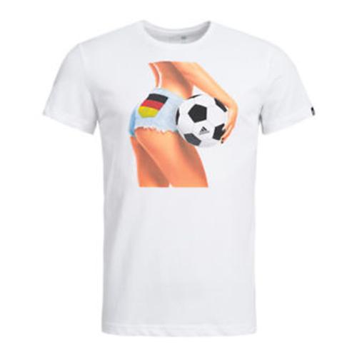 22d2fa795 Men's Adidas T-Shirt - Summer Fan - Germany Football - White ...